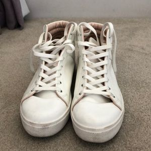 White high top sneakers from Topshop